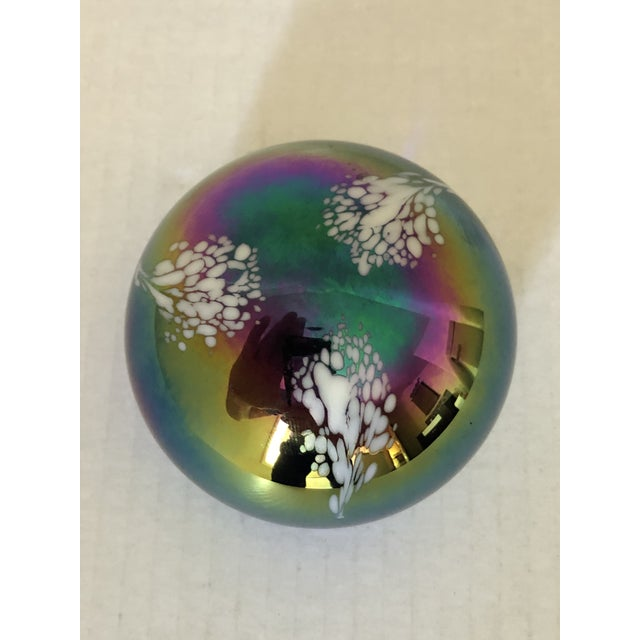 Beautiful Art Glass PaperWeight madd With Mount Saint Helens eruption ash. Signed and dated on verso.