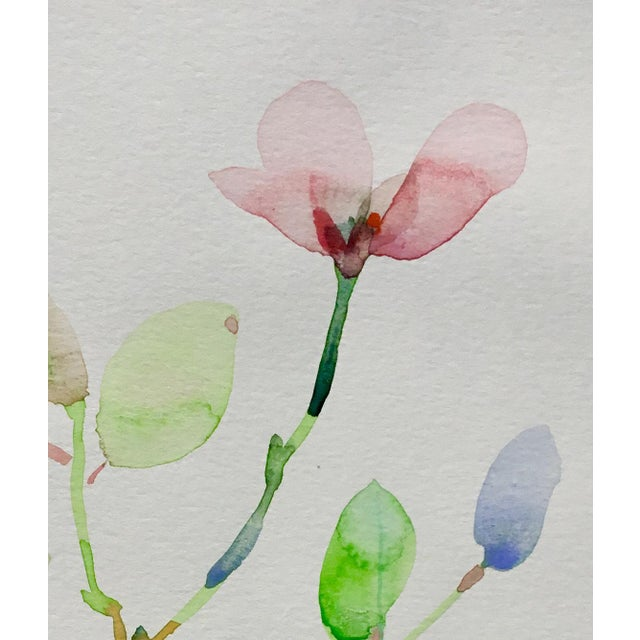 Original watercolor painting on Caslon paper, Botanical series 4.