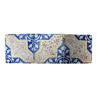 Antique Tiles Depicting Leaves and Geometric Forms - Set of 3 For Sale