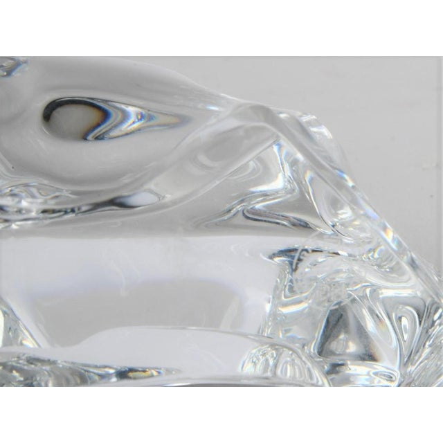 1990s Art Deco Style Signed Baccarat Crystal Bull Figurine For Sale - Image 5 of 6