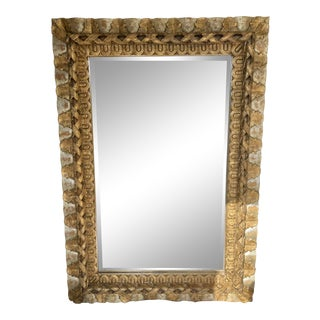 1980s Vintage San Miguel Trading Co. Wood Mirror For Sale