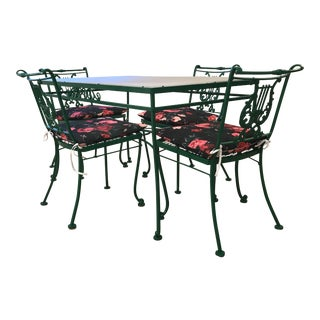 Fully Restored Vintage Hollywood Regency Patio Dining Set