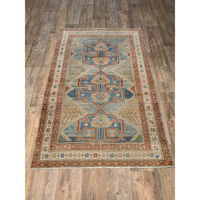 """Bellwether Rugs Antique Persian Malayer Rug - 4'1"""" X 6'2"""" For Sale - Image 4 of 4"""