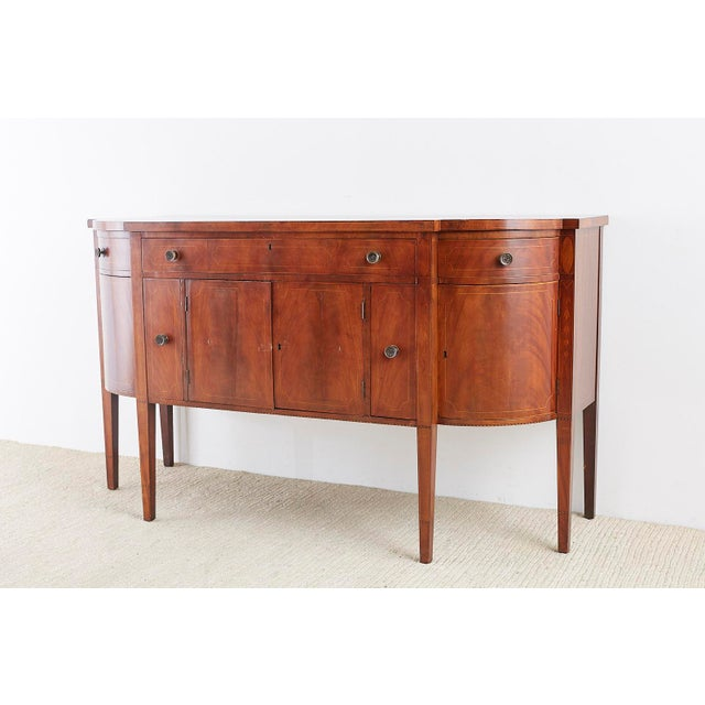 American Federal Mahogany Bow Front Sideboard For Sale - Image 9 of 13
