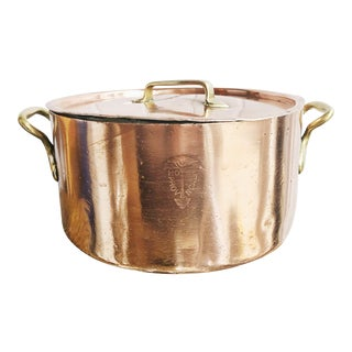 Christofle Copper and Silver Lidded Pot From Hotel Provencal For Sale