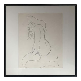 Nude Drawing by Albert Radockzy #4 For Sale