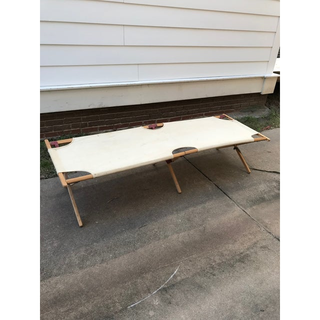 Americana Vintage Collapsible Camping Cot For Sale - Image 3 of 11