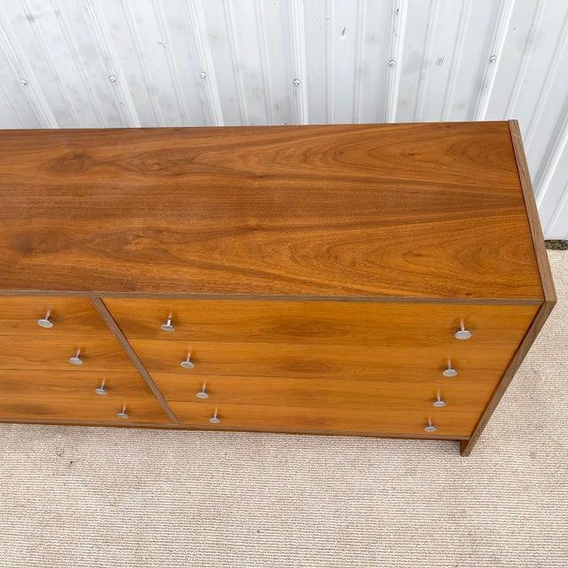 1970s Vintage Modern Six Drawer Teak Dresser For Sale - Image 5 of 13