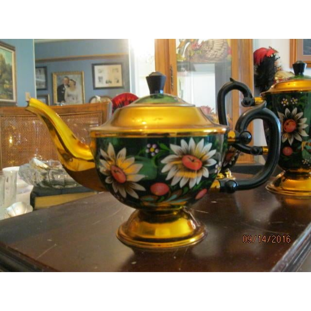 New Hand Painted Russian Vintage Tea and Coffee Set ~ Circa 1960's to 1970's - Image 6 of 11
