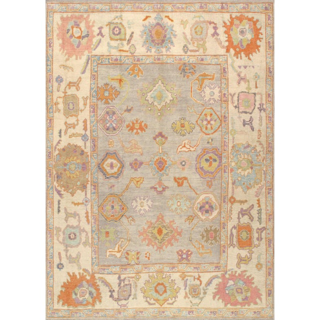 Pasargad Turkish Oushak Collection Wool Area Rug - 9′9″ × 13′6″ For Sale In New York - Image 6 of 6