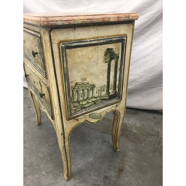 19th C Venetian Petite Painted Chest of Drawers - Commode For Sale In Austin - Image 6 of 12