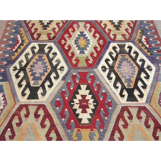 Vintage Turkish Kilim Rug - Image 4 of 9