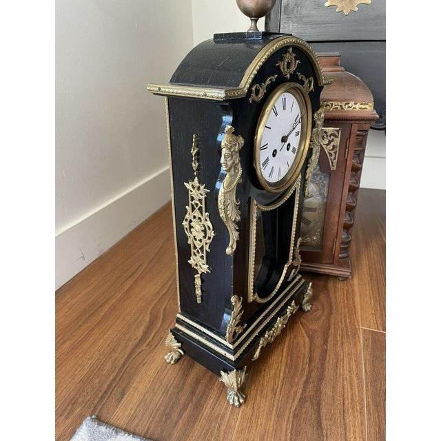 Antique Mid 19th Century French Mantel Clock With Case For Sale - Image 4 of 11
