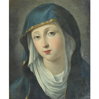 """Italian Old Master Oil Painting """"Madonna"""" For Sale"""