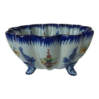 Vestal Alcobaca of Portugal Footed Scalloped Bowl For Sale