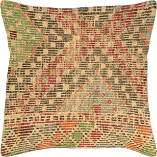 "Nalbandian - 1960s Turkish Jijim Pillow - 19"" X 19"" For Sale"