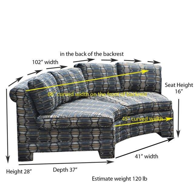 Vintage Milo Baughman Circular Sectional Sofa For Sale - Image 9 of 9