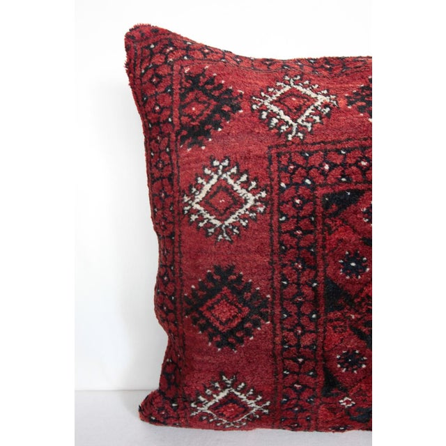 Islamic Home Decor Vintage Carpet Pillow For Sale - Image 3 of 9