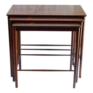 Grete Jalk Mid-Century Rosewood Nesting Tables - Set of 3 For Sale