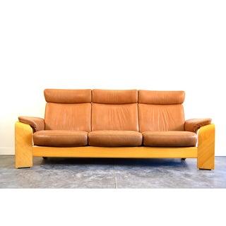 1970s Vintage Ekornes Norway Leather Sofa Preview