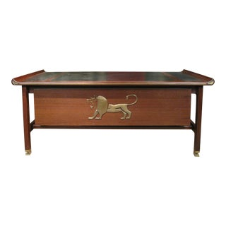 Executive Desk in Wenge & Brass by Kofod Larsen For Sale