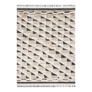 Black & Natural Wool Khalid Rug - 9′6″ × 13′6″ For Sale