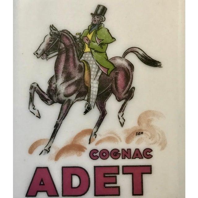 """Limoges France """"Cognac Adet"""" Porcelain Ashtray For Sale In San Francisco - Image 6 of 7"""