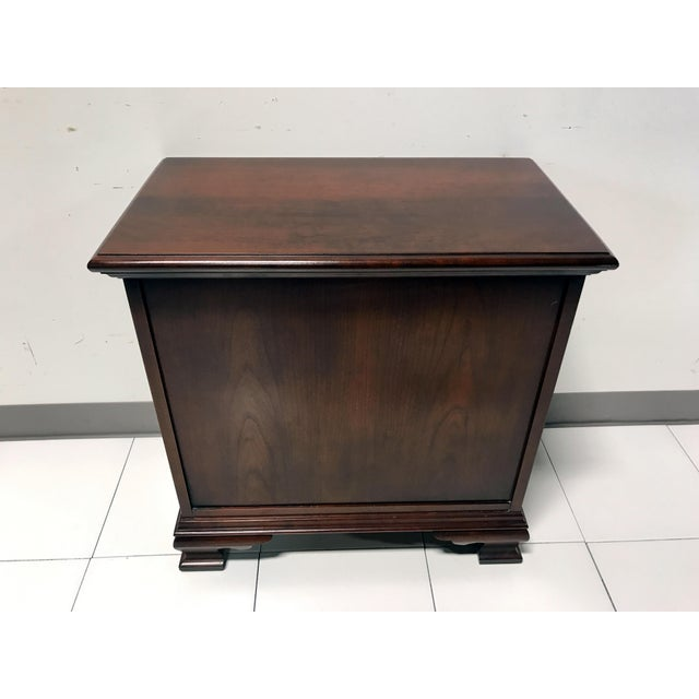 JF Delwood Solid Cherry Chippendale Chairside Chest - Image 10 of 11