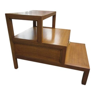 John Widdicomb for Widdicomb Stepped Side Table with Drawer in Honey Mahogany