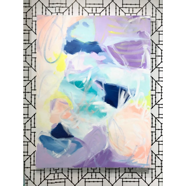 """Abstract Christina Longoria """"Ella's Spring"""" Abstract Painting For Sale - Image 3 of 3"""