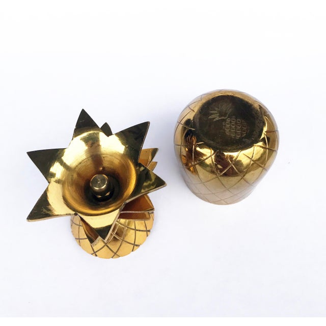 The Pineapple Co. Brass Shot Glasses - A Pair - Image 3 of 6