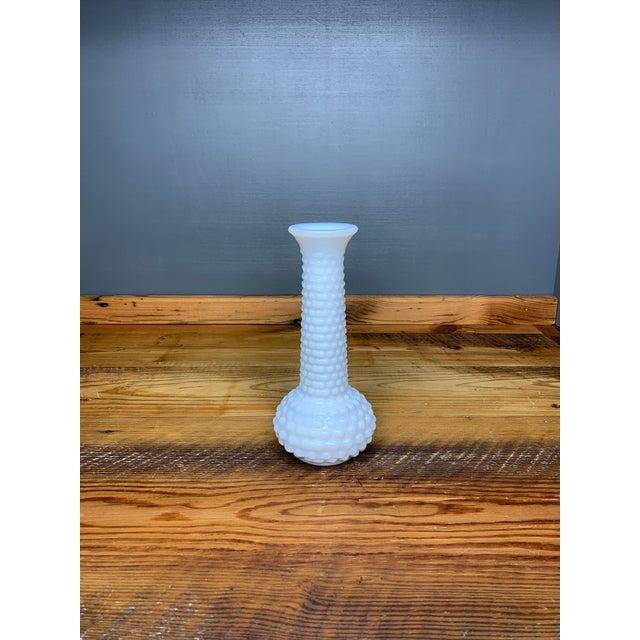 Cottage Hobnail Milk Glass Bud Vase For Sale - Image 3 of 7