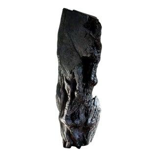 Via Fire Shou Sugi Ban Black Totem Wood Sculpture For Sale