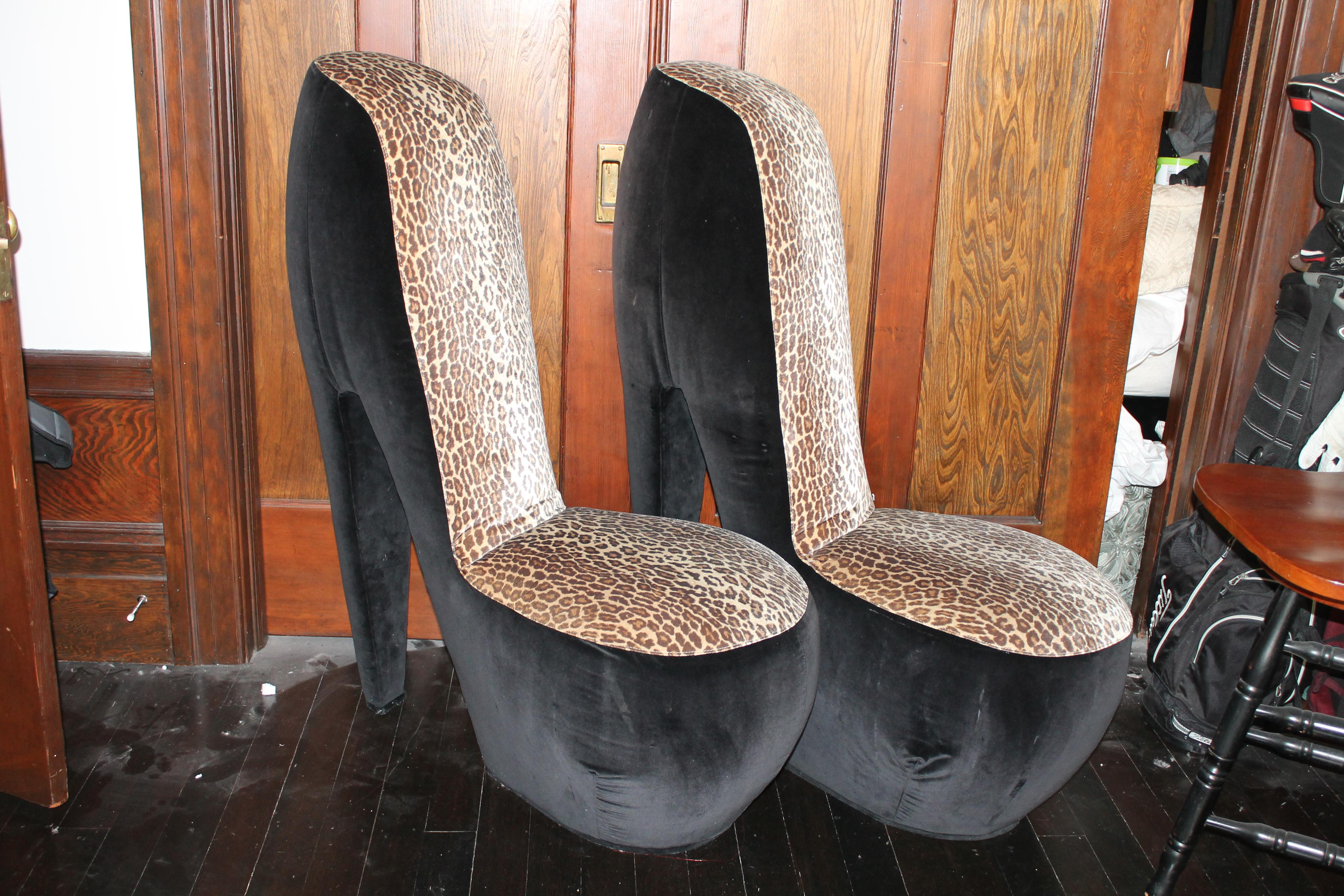 Charmant These Two Side High Heel Chairs Have Been In My Family For Over 20 Years! Leopard  Print ...