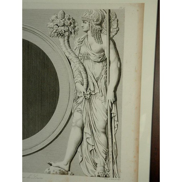 Stunning suite of four original prints from one of the first artbooks published on the Louvre when it was made open to the...