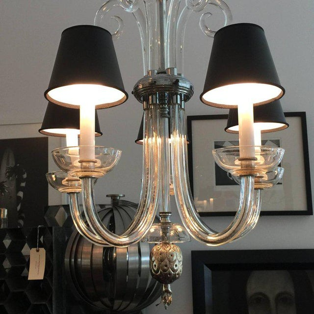 Austrian Deco Crystal Five-Arm Chandelier For Sale In Miami - Image 6 of 6