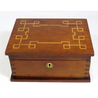 1907 Traditional Cherry Wood Sewing Box Preview