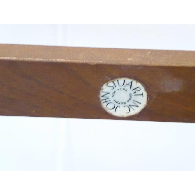 Vintage Modern John Stuart Hardwood Side Table For Sale In Portland, ME - Image 6 of 8