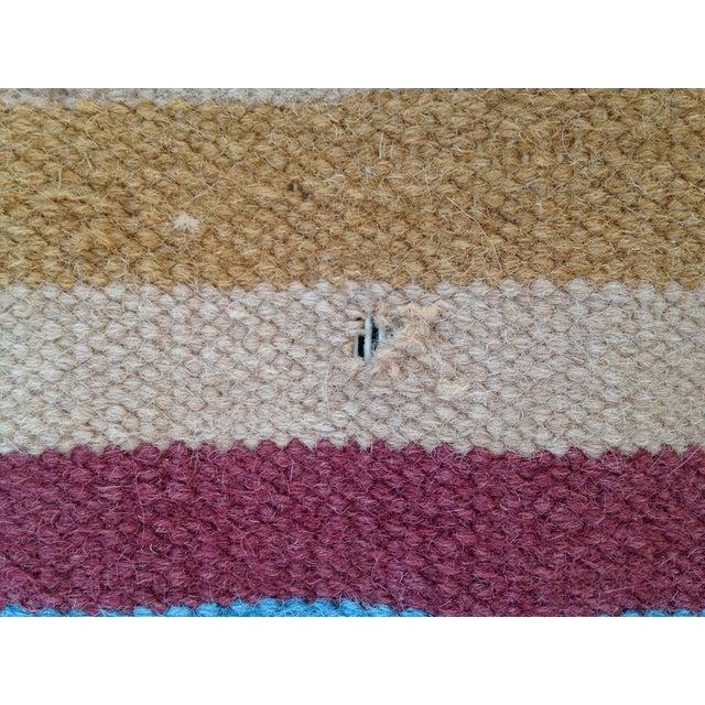 Flat Woven Wool Kilim Rug- 6' x 9' - Image 8 of 10