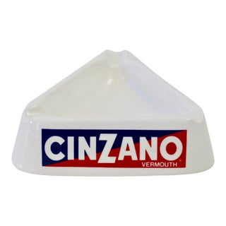 Italian Cinzano Ceramic Ashtray For Sale