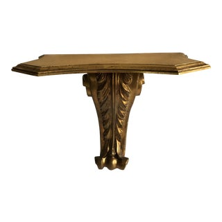Antique Italian Gilt Wall Shelf For Sale
