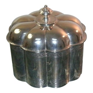 1994 Godinger SIlver Plated Velvet Lined Trinket Box For Sale