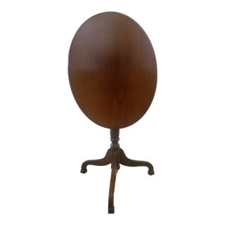 Vintage Bombay Company Mahogany Oval Tilt Top Table Lamp Table Plant Stand For Sale