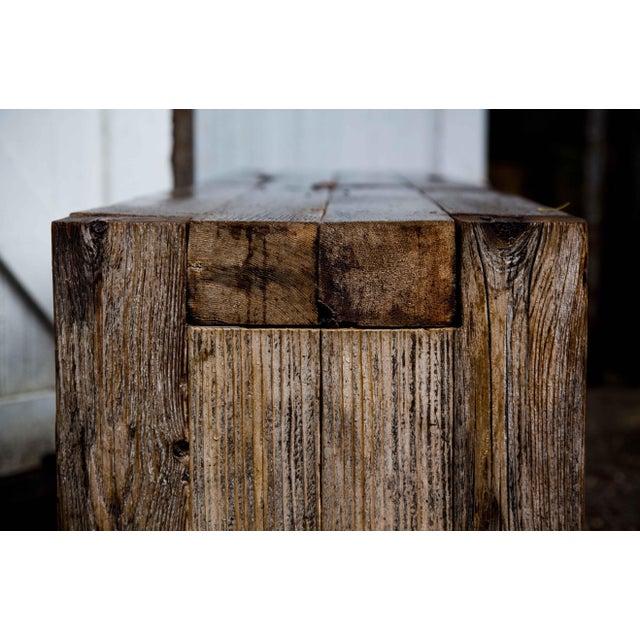Reclaimed Wood Garden Loveseat Bench - Image 8 of 9