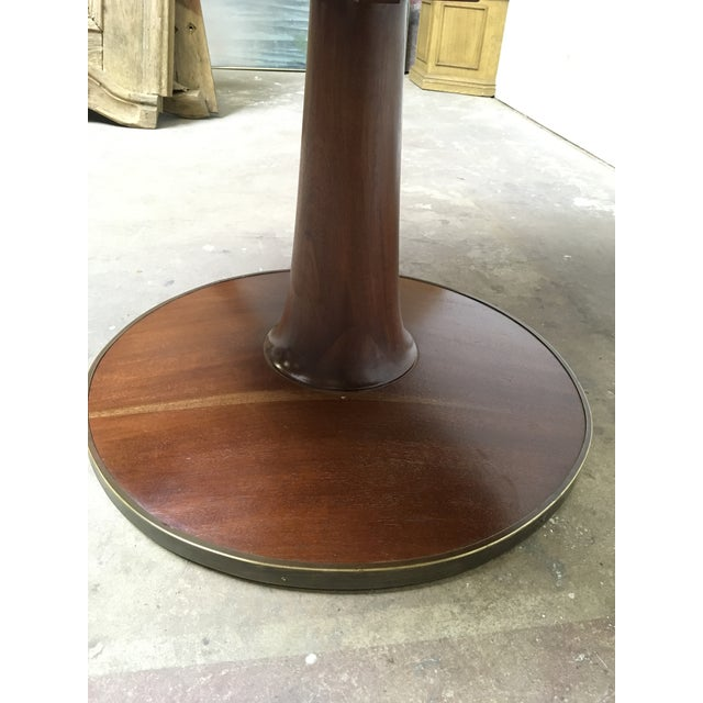 T.H. Robsjohn Gibbings T.H. Robsjohn-Gibbings Expandable Round Mahogany Dining Table For Sale - Image 4 of 13