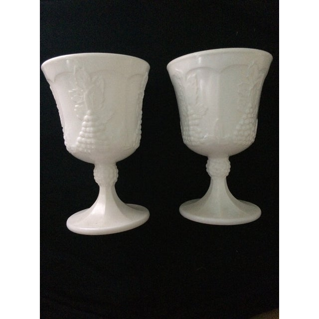 Vintage White Porcelain Goblets - A Pair - Image 2 of 5