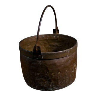 Antique French Copper Pot For Sale