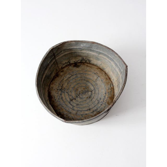 Vintage Galvanized Tub Basin - Image 6 of 8
