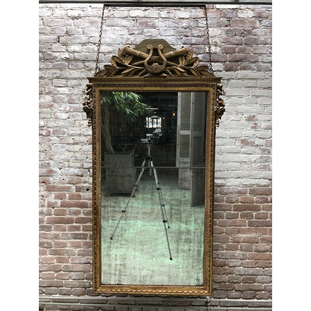Wood Louis XVI , 18th Century Mirror For Sale - Image 7 of 7