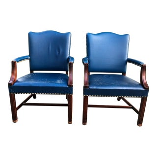 1970s Stow & Davis Executive Arm Chairs - a Pair For Sale
